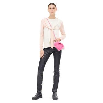 LOEWE Shoulder Sleeve Sweater Pink/Beige front