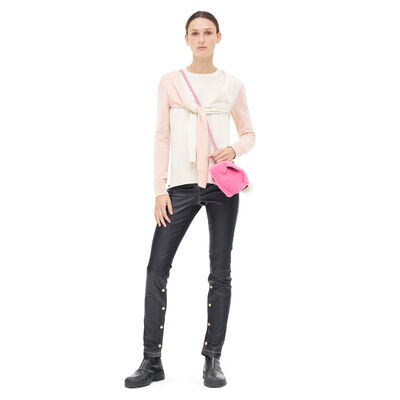 LOEWE Shoulder Sleeve Sweater Pink/Beige front
