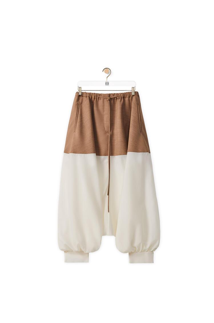 LOEWE 羊毛灯笼裤 beige/white pdp_rd