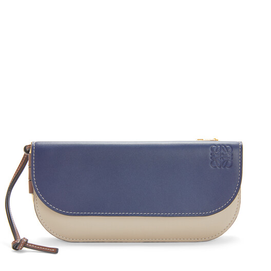 LOEWE Gate Continental Wallet Marine/Light Oat front