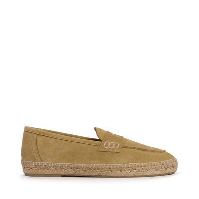LOEWE Loafer Espadrille Gold front