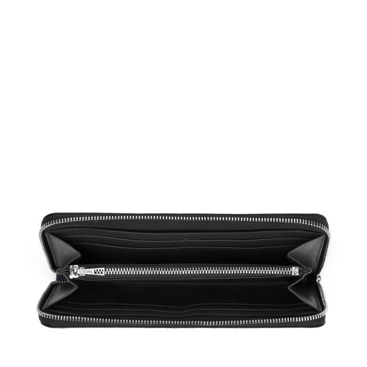 LOEWE Zip Around Wallet Midnight Blue/Black front
