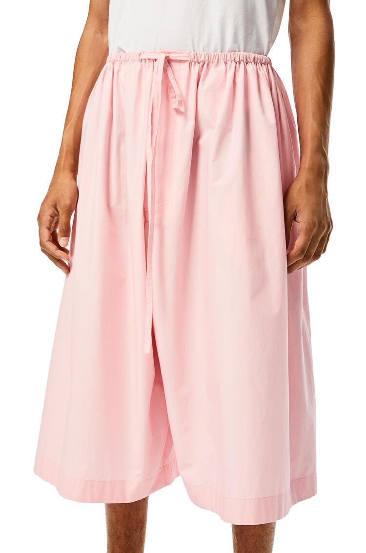 LOEWE 棉质抽绳短裤 Baby Pink pdp_rd