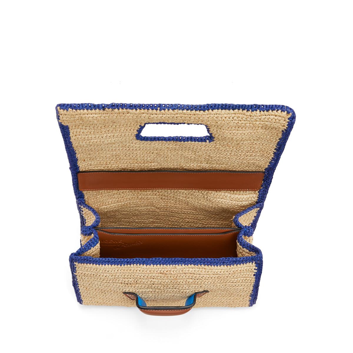 LOEWE Paula's Barcelona Bag Natural/Blue front