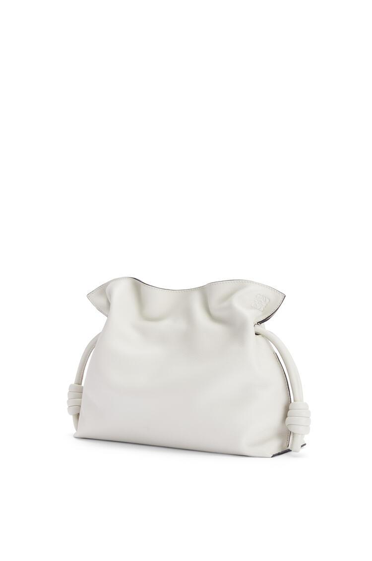 LOEWE Flamenco clutch in nappa calfskin Soft White pdp_rd