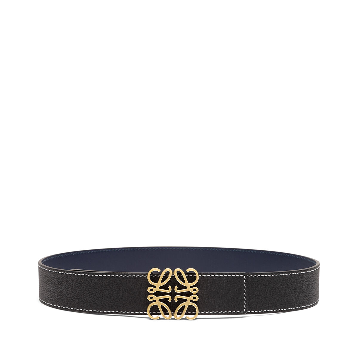 LOEWE アナグラム ベルト 4 CM Black/Navy/Old Gold all