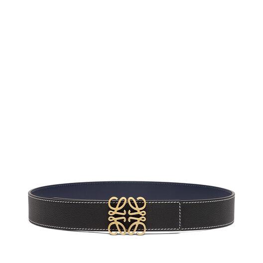 LOEWE Cinturon Anagrama 4 Cm Negro/Azul Marino/Oro Viejo all