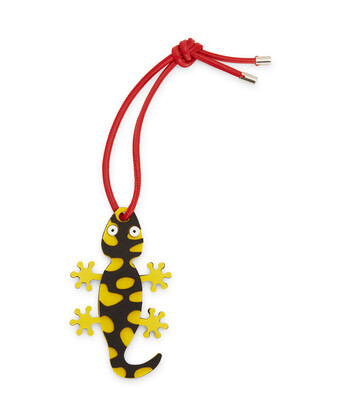LOEWE Paula Salamander Charm Black/Yellow front
