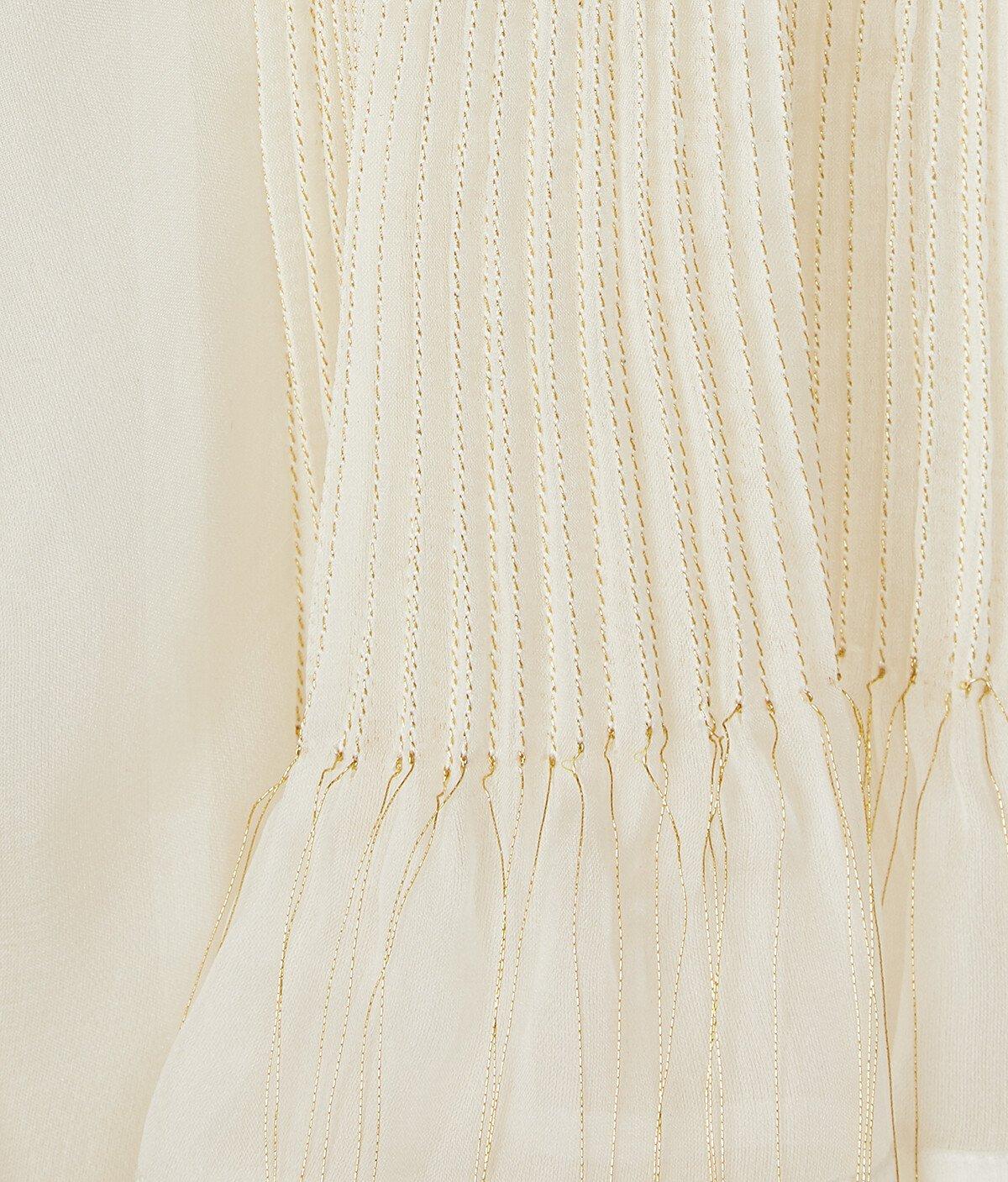 LOEWE Golden String Blouse 白 front