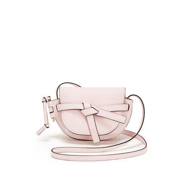 LOEWE Mini Gate bag in soft grained calfskin Icy Pink pdp_rd