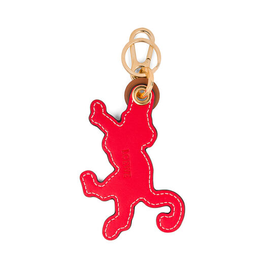 LOEWE Monkey Leather Charm Tan/Primary Red front