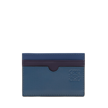 LOEWE Rainbow Plain Cardholder blue/multicolour front