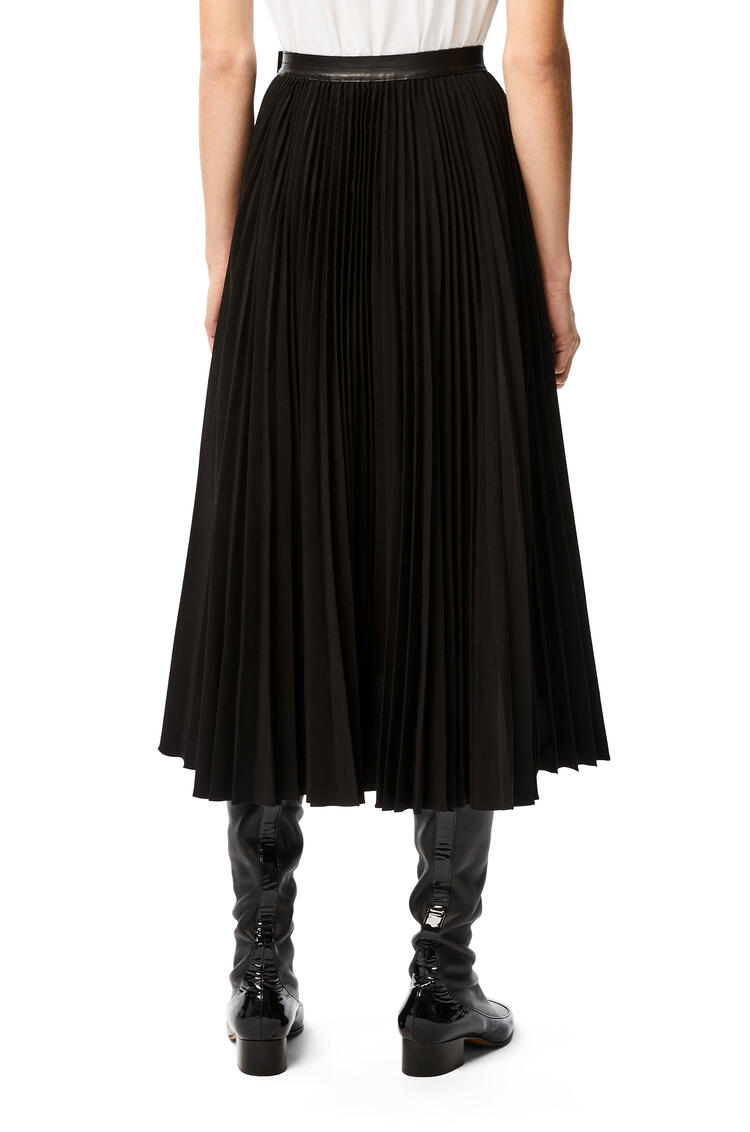 LOEWE Flap pocket skirt in linen and cotton Black pdp_rd
