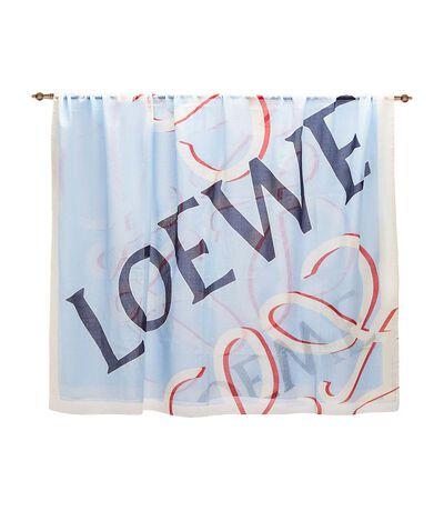 LOEWE 140X200 Scarf Loewe Anagram Light Blue front