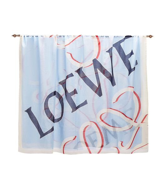 LOEWE 140X200 Scarf Loewe Anagram Azul Claro all