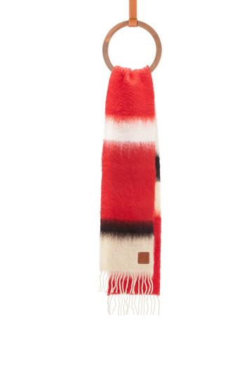 LOEWE 23X185 Scarf Stripes Rojo/Negro front