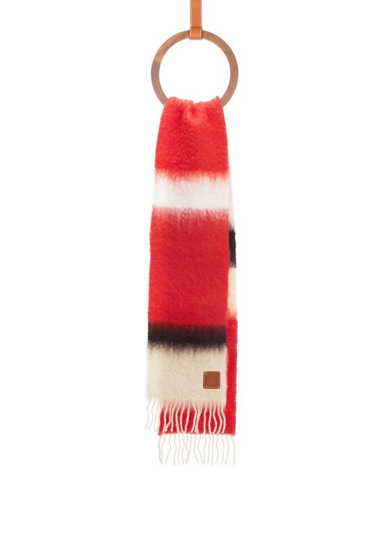 LOEWE 23X185 Scarf Stripes Red/Black front