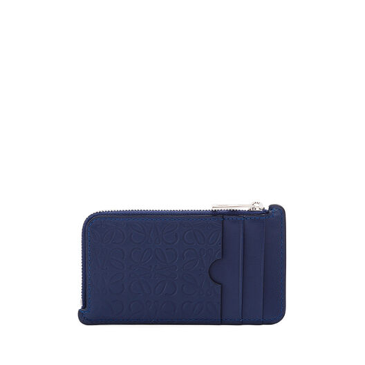 LOEWE Coin/Card Holder Navy Blue front