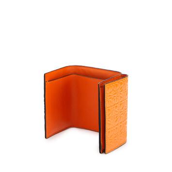 LOEWE Billetero Triple Naranja front