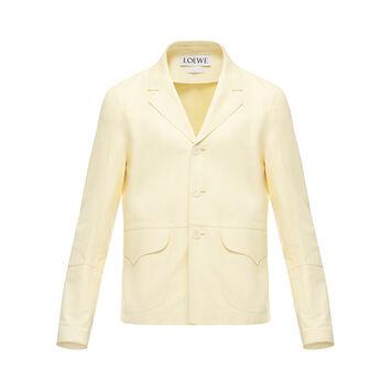 LOEWE Flap Pocket Jacket Yellow front