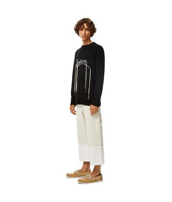 LOEWE Loewe Stitch Sweater Negro/Ecru front