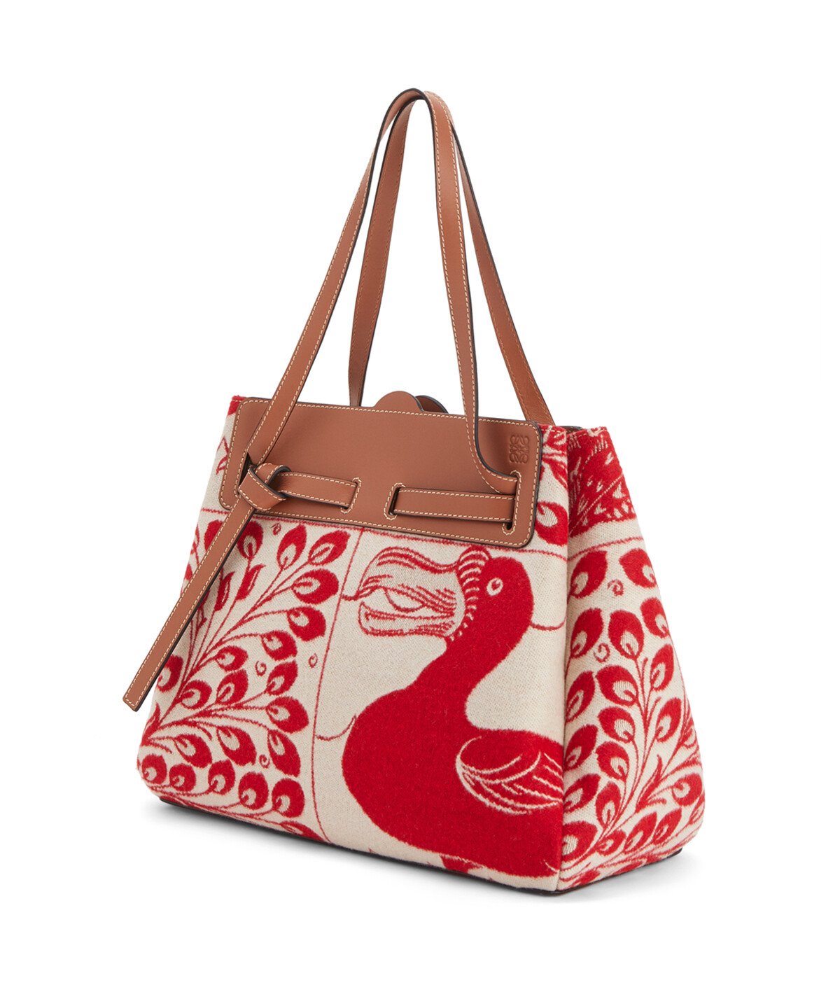 LOEWE Lazo Shopper Tiles 紅 front