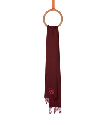 LOEWE 30X180 Anagram Scarf 桃紅色/酒紅色 front