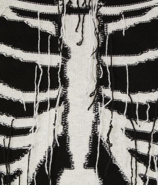 LOEWE Skeleton Sweater Black/White front