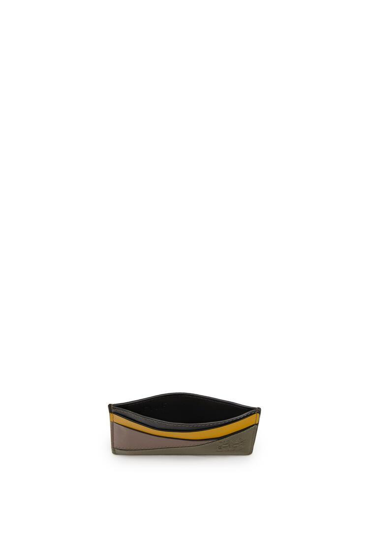 LOEWE Puzzle plain cardholder in classic calfskin Khaki Green/Ochre pdp_rd