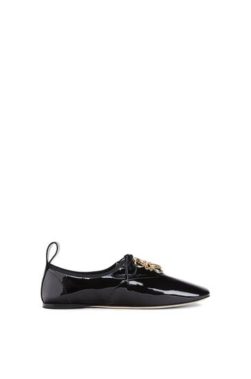 LOEWE Soft derby anagram in patent calf 黑色 pdp_rd
