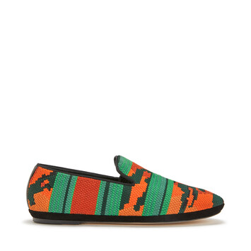 LOEWE Tiger Slipper Orange/Green front
