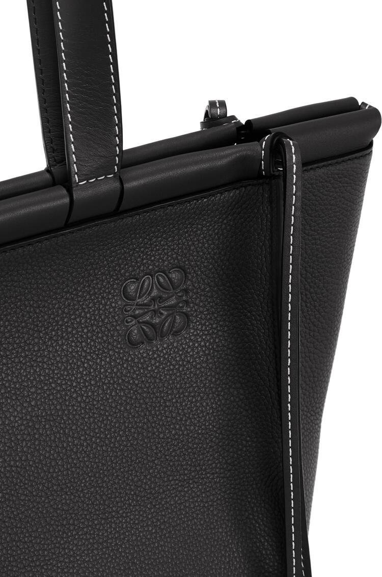 LOEWE Small Cushion Tote bag in soft grained calfskin Black pdp_rd
