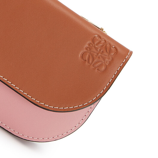 LOEWE Gate Continental Wallet Tan/Medium Pink front
