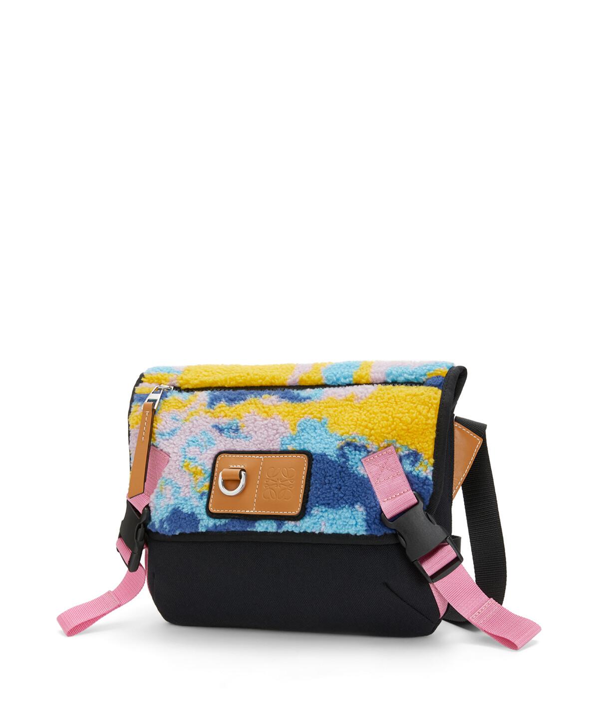 LOEWE Eye/Loewe/Nature Messenger Camouflage Small Bag Multicolor front