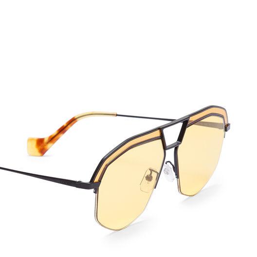 LOEWE Geometrical Sunglasses Matte Black/Yellow all
