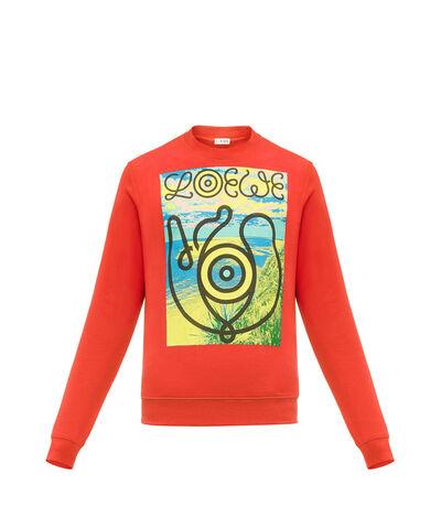 LOEWE Sweatshirt Loewe Eye 红色 front