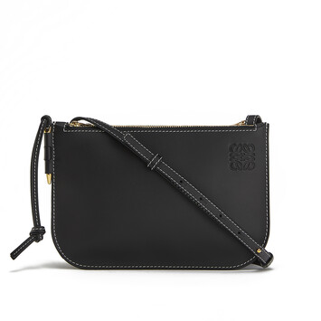 LOEWE Pouch Gate Doble Cremallera Negro front