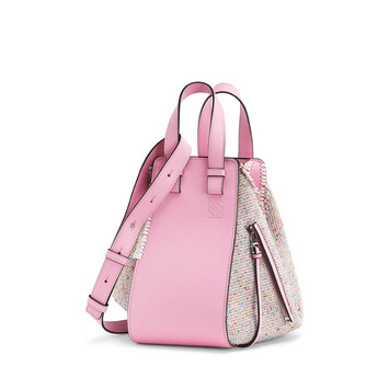 LOEWE Bolso Hammock Tweed Pequeño Cotton Candy front