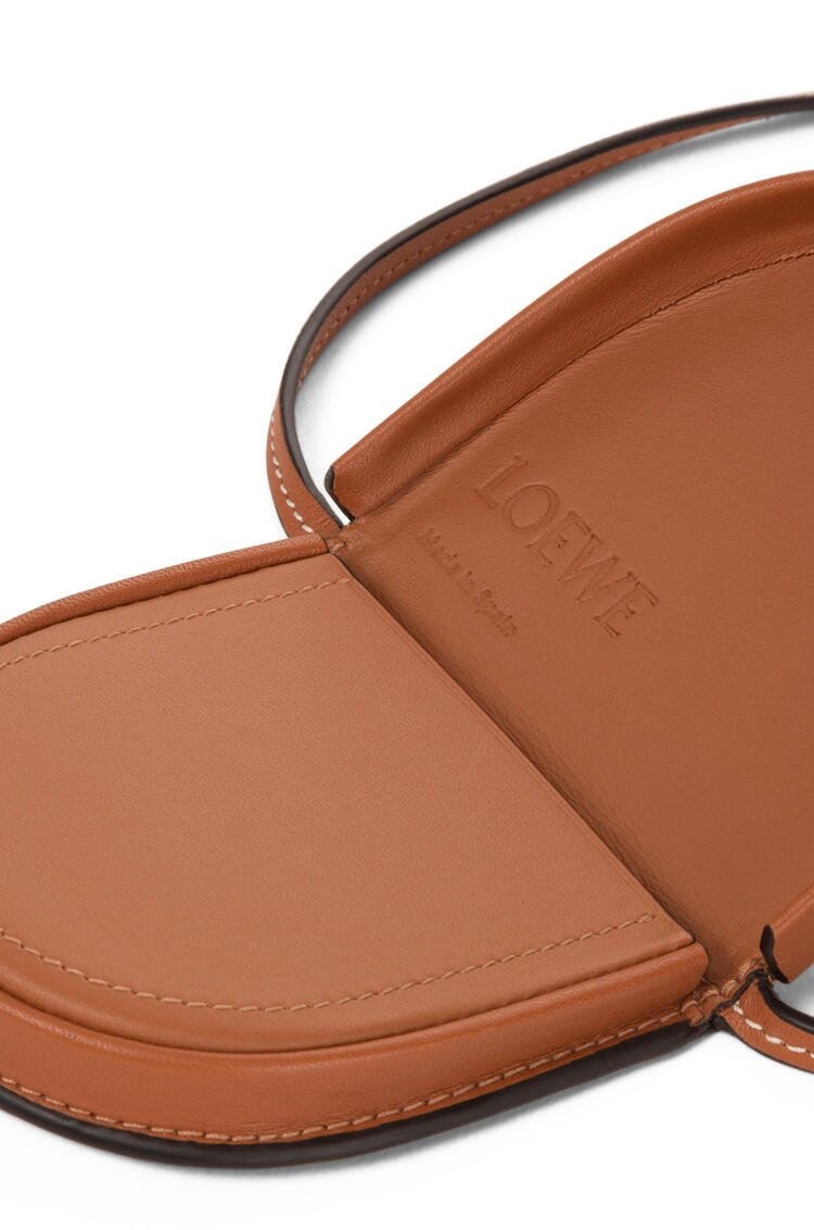 LOEWE Mini Heel pouch in soft calfskin Tan pdp_rd
