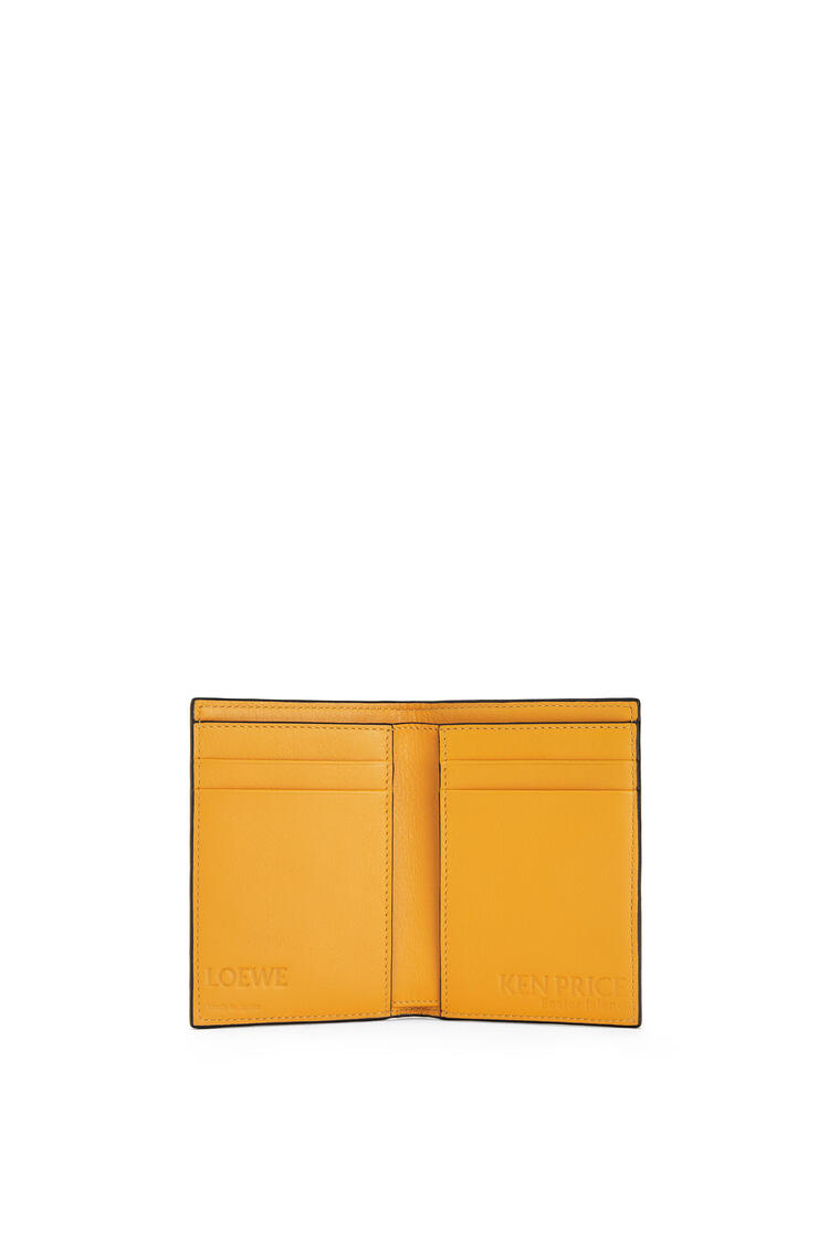 LOEWE La Palme bifold cardholder in classic calfskin Yellow Mango/Multicolor pdp_rd