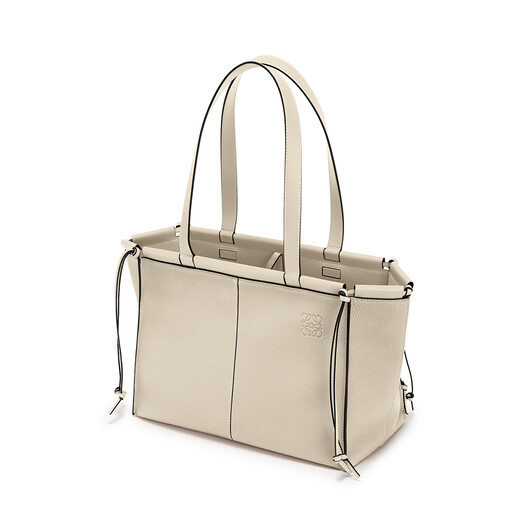LOEWE Cushion Tote Small Light Oat front