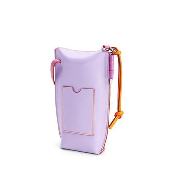 LOEWE Gate Pocket En Piel De Ternera Suave Grapefruit/Mauve front