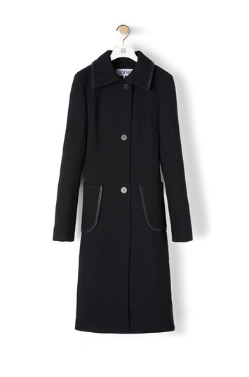 LOEWE Patch Pocket Coat 黑色 front