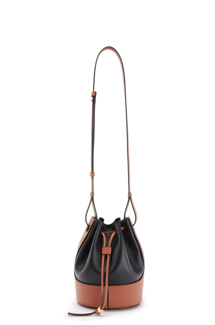 LOEWE Small Balloon bag in nappa calfskin Black/Tan pdp_rd