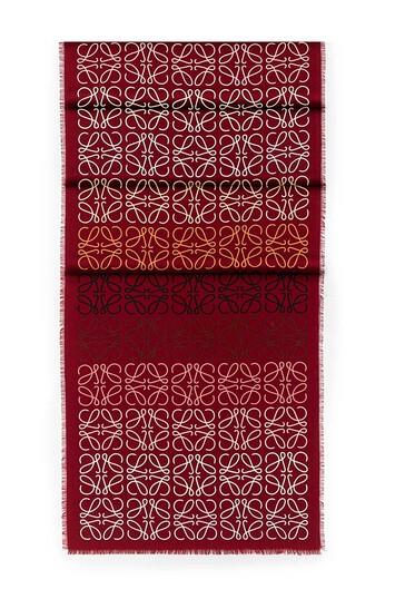 LOEWE 45X200 Anagram Scarf Dark Red front
