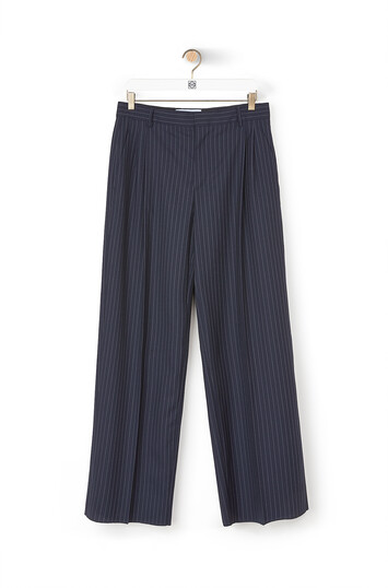 LOEWE Pleated Trousers Navy/White front
