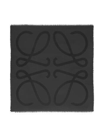 LOEWE 140X140 Scarf Giant Anagram 黑色 front