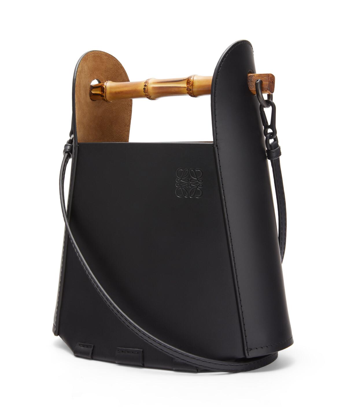 LOEWE Bamboo Bucket Bag Black front