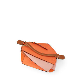 LOEWE Puzzle Small Bag Blossom/Bright Peach front