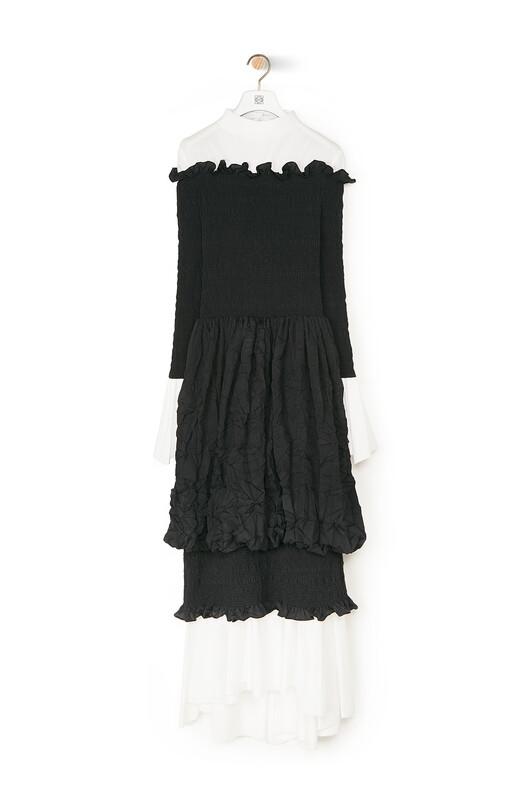 LOEWE Smock Dress Black front
